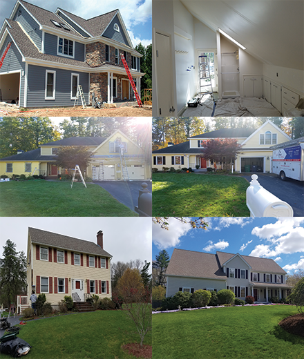 Hooksett exterior and interior residential house painters painting in MA & NH