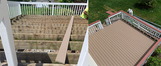 Bedford Deck repairs restoration and deck building in MA & NH